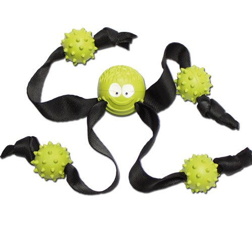 Natural Rubber Medium 24 cm Ball with Strap Legs and Hedgehog Balls
