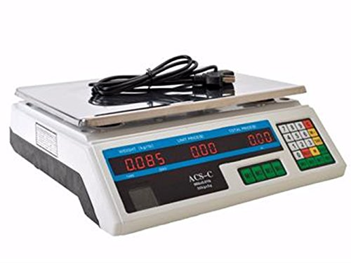 Digital Scale Price Computing Deli Food Produce Electronic Counting Weight 60 LB TKT-11