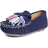 KEESKY Loafer Flat Oxford Shoes for Little Girls Casual Sneakers