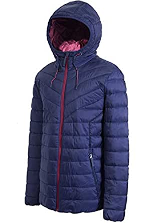 PULI Men's Hooded Packable Quilted Light Weight Outwear