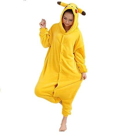 Adulto Unisexo Umbreon amarillo Umbreon Azul Pokémon Pikachu onesie Fiesta Disfraz de Kigurumi Con Capucha PIJAMA