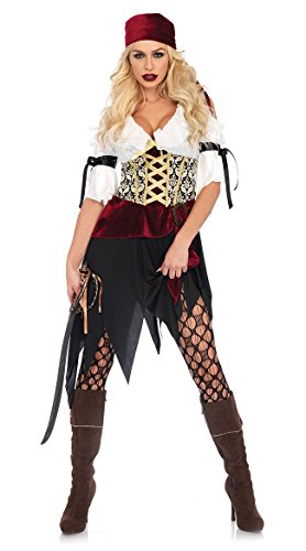 Leg Avenue Women's Sexy Wench Pirate Costume, Multi, Medium