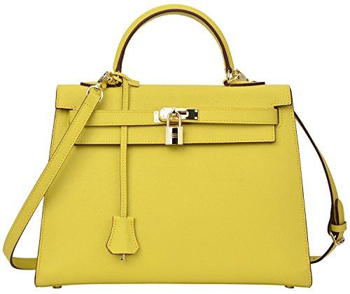 Yellow Birkin Bag. Cherish Kiss Women's Top Handle Satchel ...