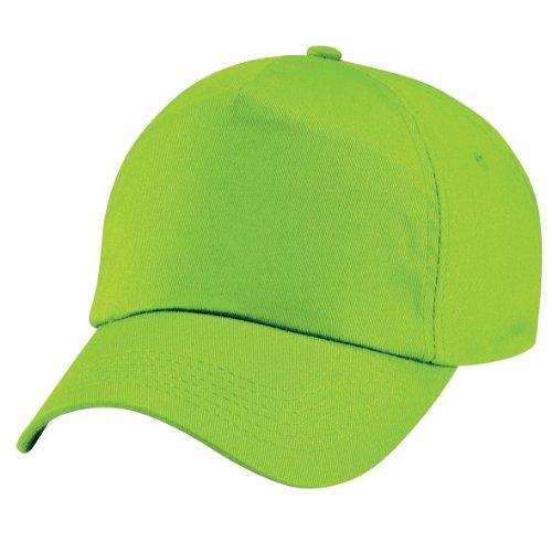 Beechfield - Gorra lisa con 5 paneles para niños/adolescentes Verde