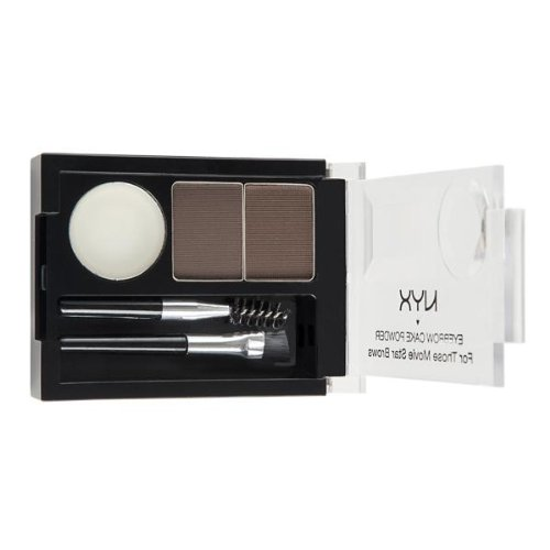 - NYX Eyebrow Cake Powder, Dark Brown/Brown