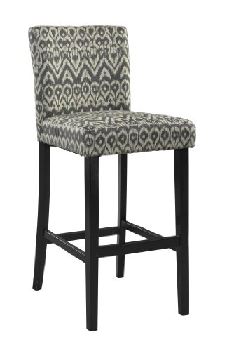Linon Home Dcor 0225DRIF-01-KD-U Counter Height Morocco Stool, Driftwood, 17.72