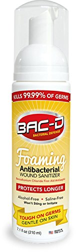 BAC-D 617 Antibacterial Alcohol Free Foaming Wound Sanitizer, 7.1 oz.