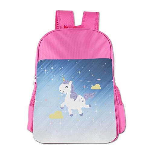 Students Happy Funny Unicorn Leisure School Bag, Printed School Bag For 4-15 Years Girls Boys -