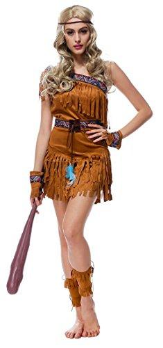 Mumentfienlis Womens Native American Halloween Costumes Indian Costume Dress Size M (Women Indian Halloween Costumes)