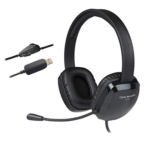[해외]20 Pack - Cyber Acoustics USB Stereo HeadsetHeadphones and Noise Cancelling Microphone for PCs and Other USB Devices in The Office Classroom or Home (AC-6012) / 20 Pack - Cyber Acoustics USB Stereo HeadsetHeadphones and Noise Cance...