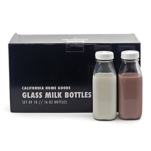 Glass Water Milk Bottles 1 Pint With Twist Caps For Water