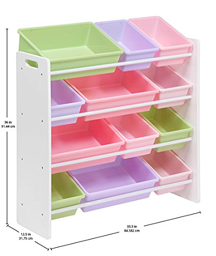 41no8mLlFlL - Honey-Can-Do SRT-01603 Kids Toy Organizer and Storage Bins, White/Pastel