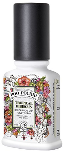 Poo-Pourri Before-You-Go Toilet Spray 2-Ounce Bottle, Tropical Hibiscus (Tropical Scent)