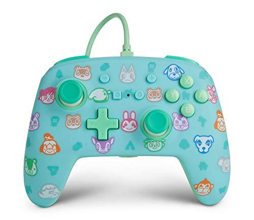 🥇 PowerA – Mando con cable mejorado PowerA para Nintendo Switch: Animal Crossing