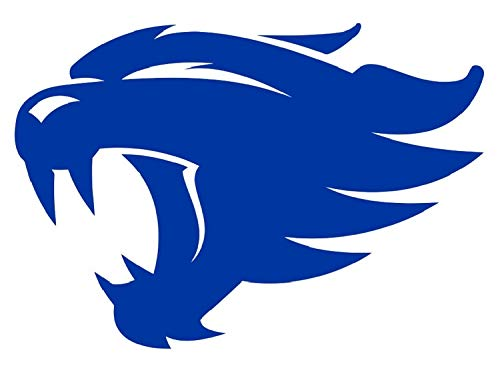 SellingDecals ncaa0508 Kentucky Wildcats Head Logo Die Cut Vinyl Graphic Decal Sticker NCAA Color Choice ()