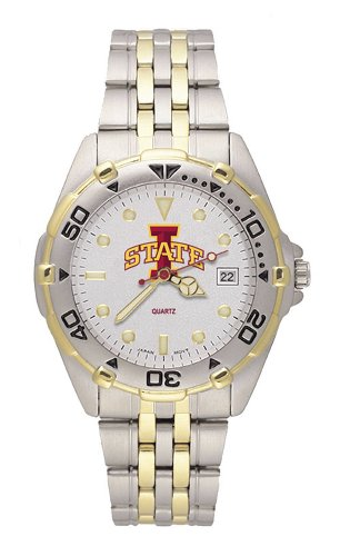 Iowa State Cyclones Men's All Star Watch Stainless Steel Bracelet by Logo Art