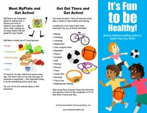 Kids MyPlate and Physical Activity Brochure - Packet of -