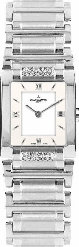 Jacques Lemans Women's G-117H Gloria Classic Analog Sapphire Glass and Genuine Diamonds Watch