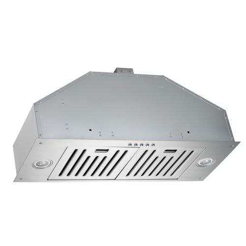 KOBE INX2730SQB-700-2 Brillia 30-inch Built-in/ Insert Range Hood, 3-Speed, 750 CFM, LED Lights, Baffle Filters by KOBE Range Hoods