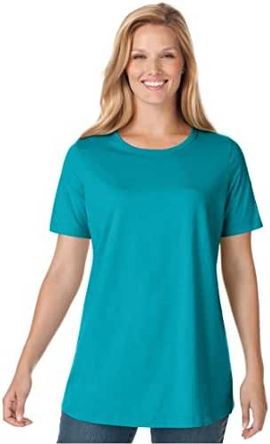 Women's Plus Size Top, Perfect Crewneck Tee In Soft Cotton Knit