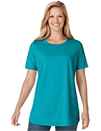 Women's Plus Size Top, Perfect Crewneck Tee In Soft...