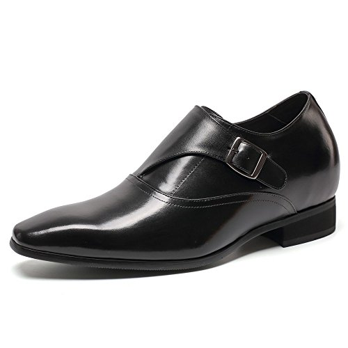 "CHAMARIPA Height Increasing Elevator Shoes 2.76"" Taller Men's Dress Loafers Shoes H71K40K022D US 7"