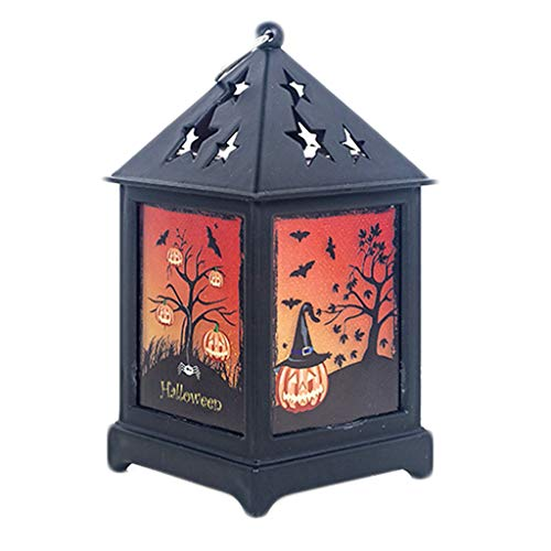 Fine Halloween Decorations, LED Halloween Pumpkin Lights Decoration Lantern String Lights Battery Powered Pumpkin Lantern Decor for Halloween Indoor Outdoor Party (C)