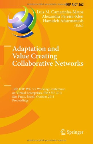 Adaptation and Value Creating Collaborative Networks by , Springer
