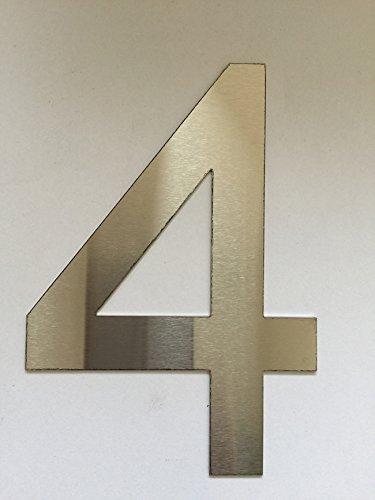 Número Casa / Números y abc numeral cepillado Acero inoxidable (4)
