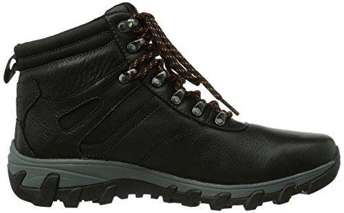 Rockport Rockport - Botas para hombre Black Lea
