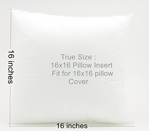 Square-Pillow-Insert-for-Sham-or-Decorative-pillow-Made-in-USA-Perfect-for-16x16-cover-16x16 ...