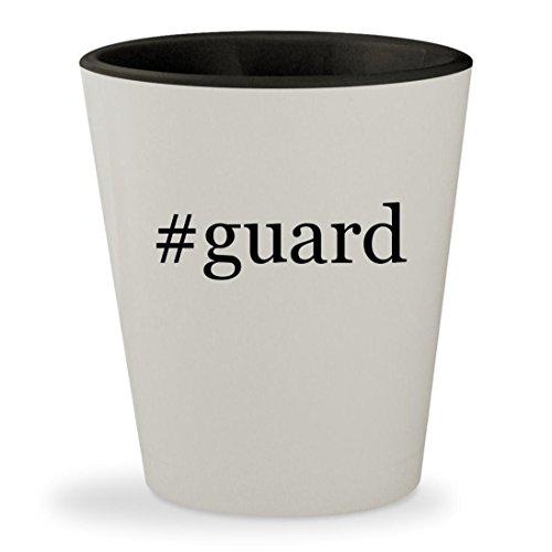 #guard - Hashtag White Outer & Black Inner Ceramic 1.5oz Shot Glass