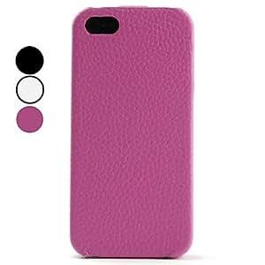 Procesamiento de dos días -Estuche de Textura de Grano Litchi de Cuero PU para el iPhone 5- Colores Surtidos,Rose