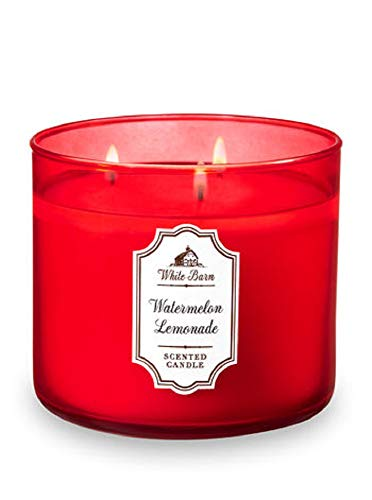 Lemonade Body - Bath and Body Works White Barn 3 Wick Scented Candle Watermelon Lemonade 14.5 Ounce