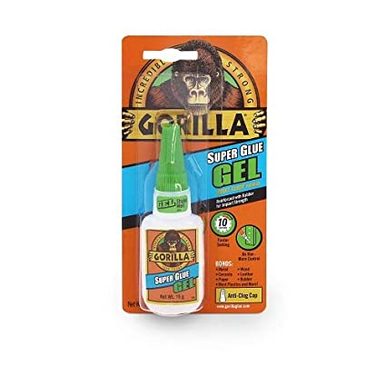 Gorilla 4044400 Superglue Gel 15gm, Clear