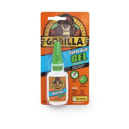 Gorilla Super Glue Gel, 15 Gram, Clear