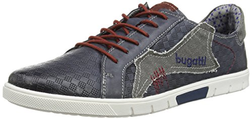 Bugatti Blue Low Men's Top Sneakers Navy Jeans 424 K10091g6 BwrZqXxB