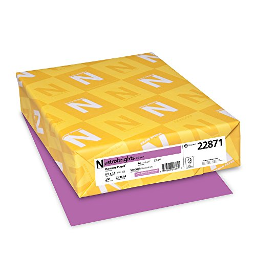 "Astrobrights Colored Cardstock, 8.5"" x 11"", 65 lb/176 gsm, Planetary Purple, 250 Sheets - Newark De Mall"