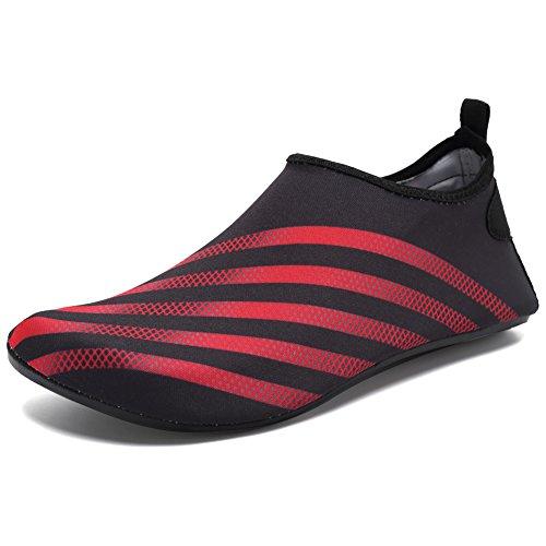 CIOR Männer Frauen und Kinder Barfuß Haut Schuhe Rutschfeste Wasser Schuhe Für Strand Pool Surf Yoga Übung H.red03