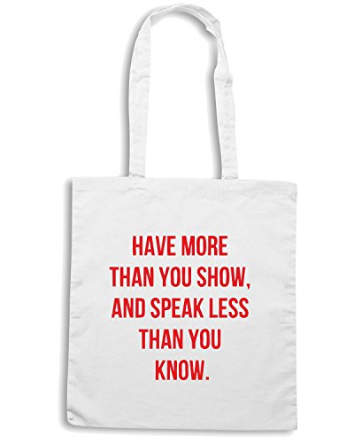 T-Shirtshock - Bolsa para la compra CIT0096 have more than you show Blanco