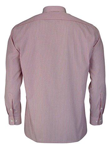 OLYMP Luxor Modern Fit Hemd Extra Kurzer Arm Streifen Rot AL 58