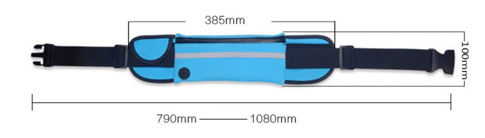 Outflower Waist Pack Bag Waterproof Mobile Phone Bag Multi-Function for Sports Riding Running Traveling