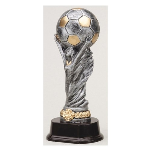 (Soccer World Cup Trophy with 3 lines of custom text)