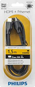 Philips SWV2432W/10 - Cable HDMI (1.5 metros), negro