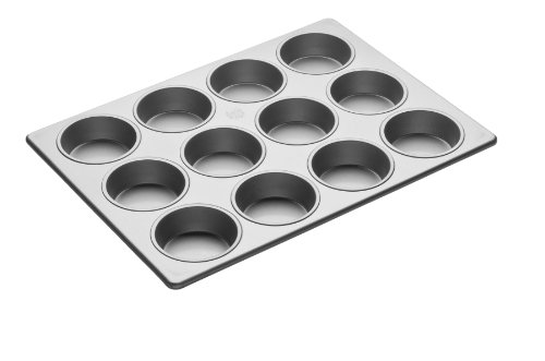 Focus Foodservice Commercial Bakeware 12 Count 3-1/2-Inch Jumbo Muffin Pan