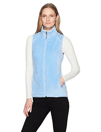 White Sierra Cozy Fleece Vest II, Sky Blue, Medium