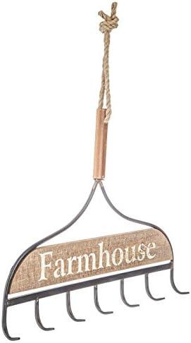 primitive farmhouse garden decor Garden Rake Rustic Iron Rake