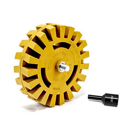 EWK Rubber Eraser Wheel pinstripe sticker decal tape glue adhesive remover w/arbor (Stickers Wheel Stripes)