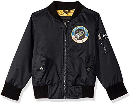 iXtreme Boys' Toddler Poly Twill Flight Jacket W/Satin Lining, Black, 2T (Toddler Flight Jacket)