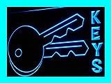 KEYS KEY LOCKSMITHS LOCKS Repair Shop LED Sign Night Light i249-b(c)